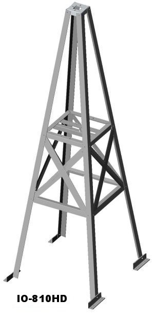 W8IO 8 foot heavy duty roof tower